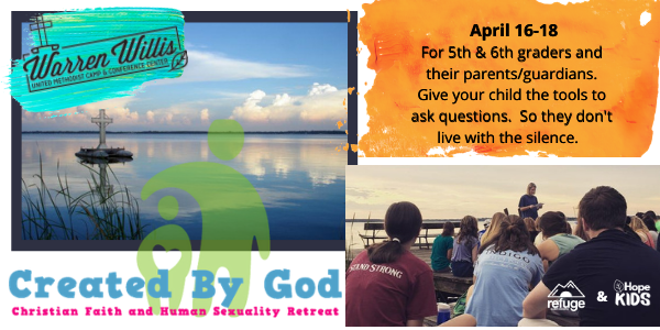 Created By God Retreat (5th & 6th graders and parents)